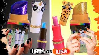 ЛИЗА или ЛЕНА? MAKEUP СЛАЙМ ЧЕЛЛЕНДЖ Rainbow High Makeup Surprise Slime Challenge LISA or LENA?