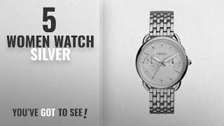 Top 10 Women Watch Silver [2018]: Fossil Women's ES3712 Tailor Silver-Tone Stainless Steel Watch
