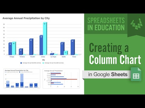 Creating a Column Chart in Google Sheets