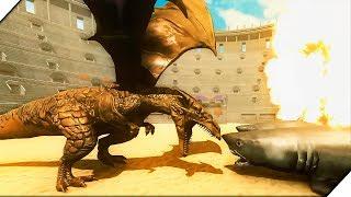 СУПЕР ДРАКОНЫ против АКУЛЫ МЕГАЛОДОНА - Игра Beast Battle Simulator Обзор  Боевой симулятор зверя