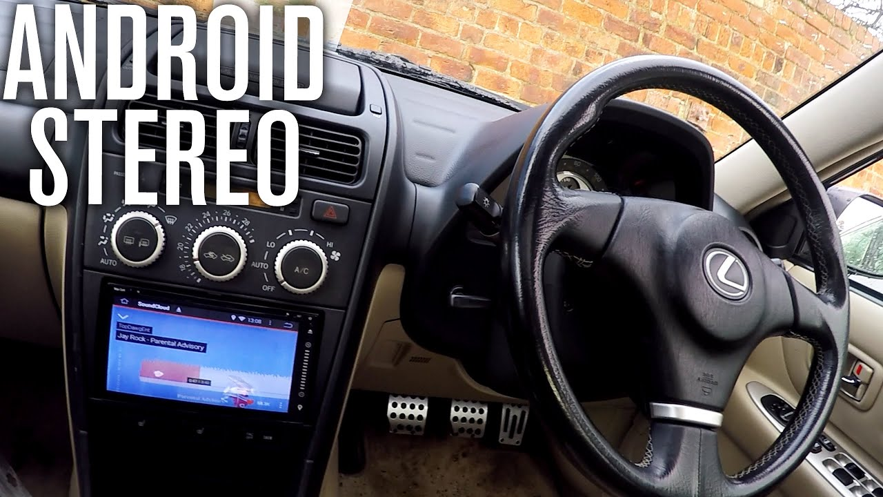 small resolution of android stereo replacement install lexus is200 car vlog