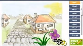 How to draw a Village