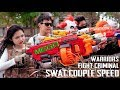 GUGU Nerf War : Perfect Couple CID Dragon Nerf Guns Fight Criminal Group Mask