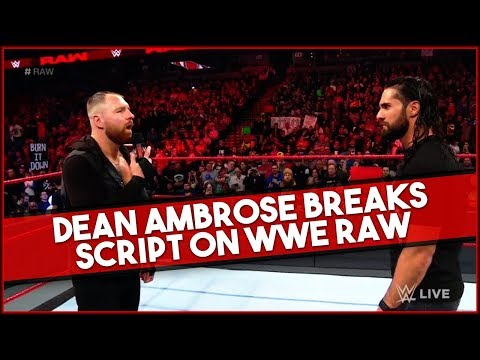 Dean Ambrose Goes OFF Script on WWE RAW -  WWE Star Making Return to SDLive in 2019!
