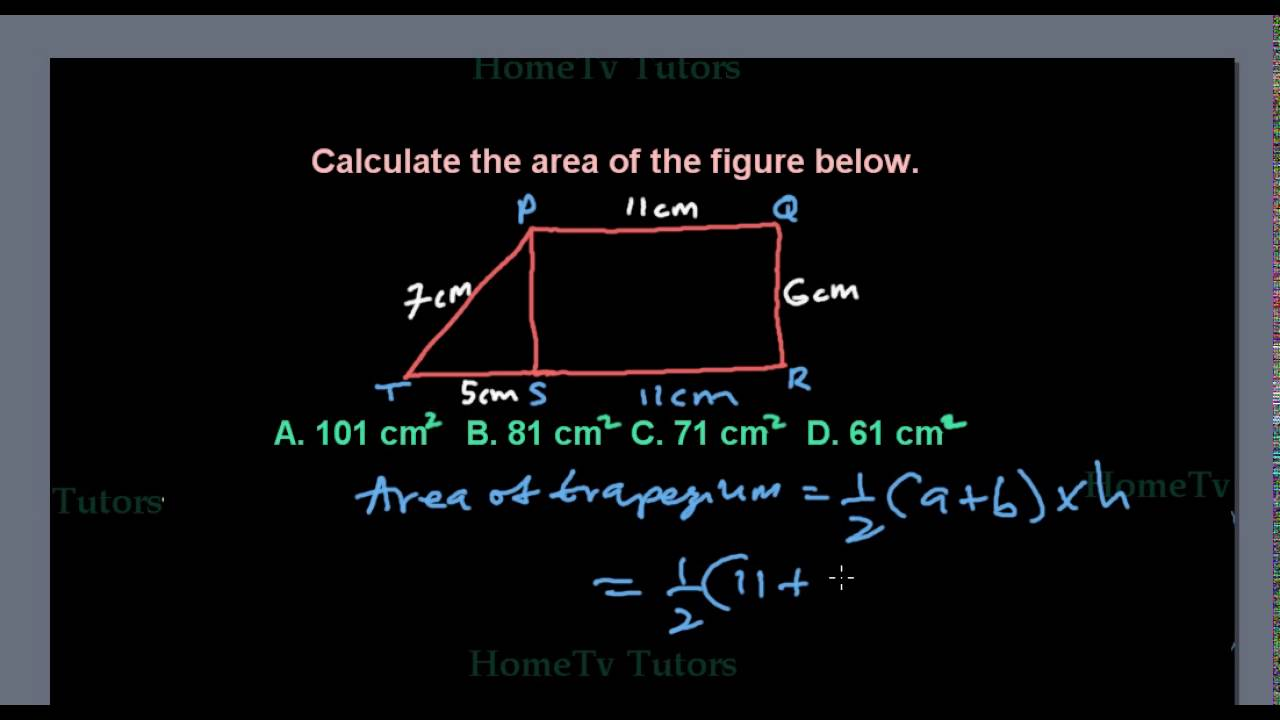 Finding The Area Of Trapezium