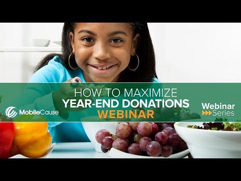 How to Maximize Year-End Donations Webinar