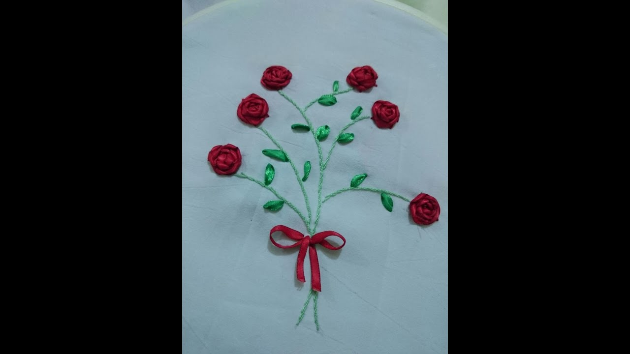 How To Make A Satin Ribbon Rose For Ribbon Embroidery Projects Tutorial