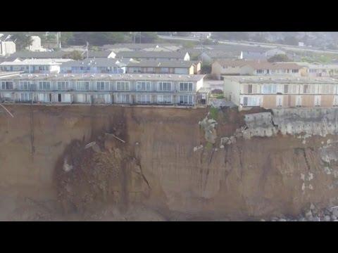 Cliff erosion threatens to push California homes into sea