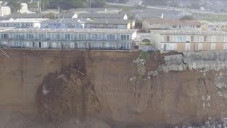 Cliff erosion threatens to push California homes into sea