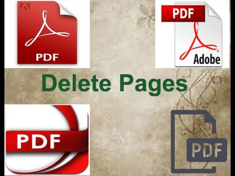How to delete page from PDf in Adobe Reader