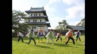 道内唯一のお城、松前城をバックに踊りました。 9月17日~18日は松前産...