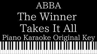 【Piano Karaoke Instrumental】The Winner Takes It All / ABBA【Original Key】