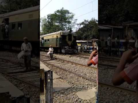 Running train at guma Station