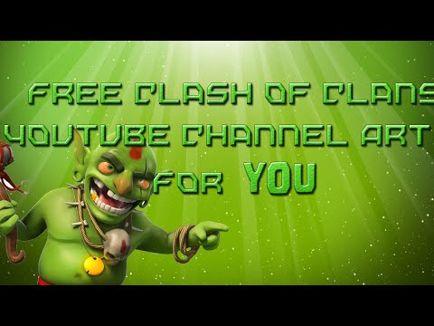 Free Clash of Clans: YouTube Channel Art   Banner (December 2014) *FREE DOWNLOAD* w/ Krazy Gamer!