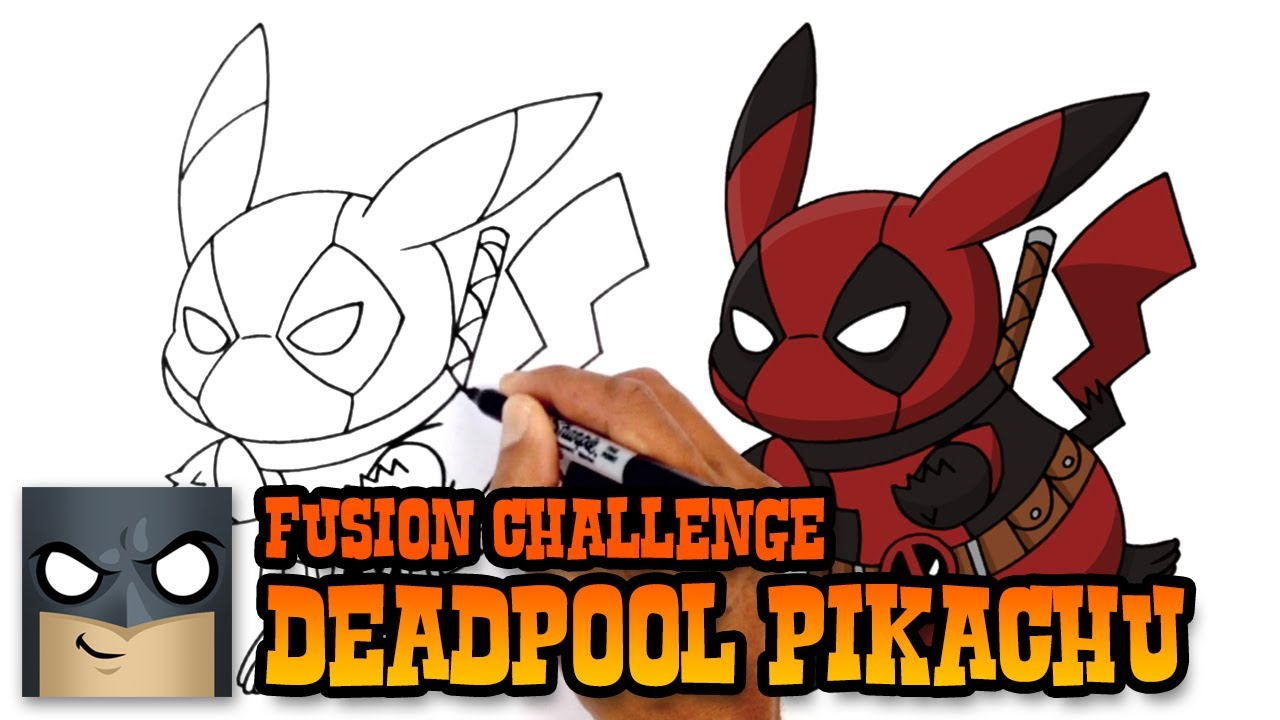 How To Draw Pikachu Deadpool Art Challenge Youtube