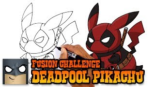 How to Draw Pikachu Deadpool | ART CHALLENGE