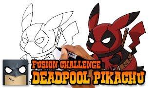 How to Draw Pikachu Deadpool | ART CHALLENGE