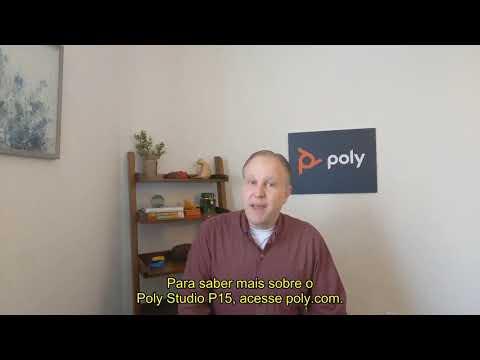 Poly Studio P15  Bloqueio de Ruído  em Português