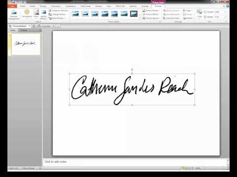 How To... Create A Transparent Signature Stamp For Adobe Acrobat X