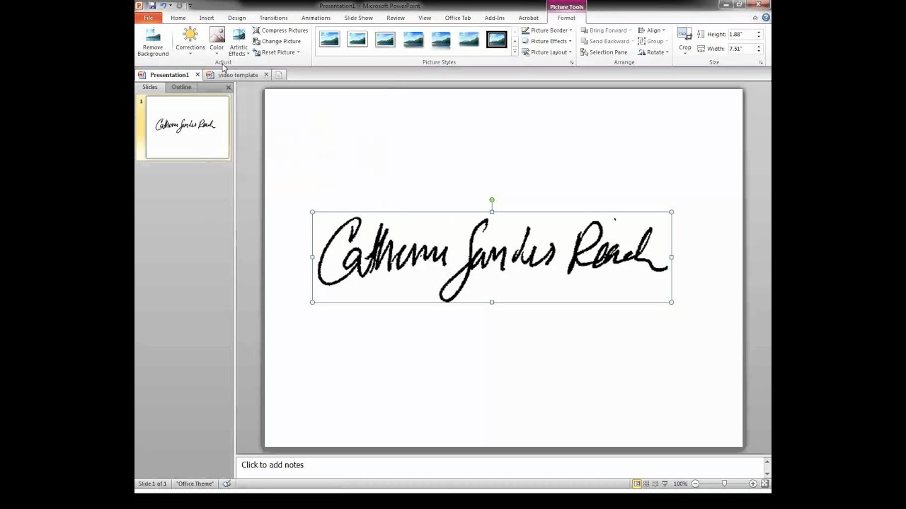 Create A Transparent Signature Stamp For Adobe Acrobat X