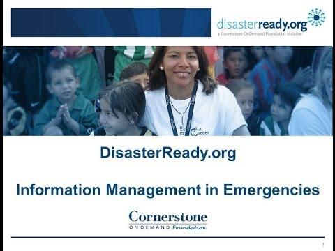 Information Management in Emergencies Webinar