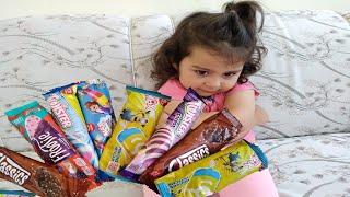 Ayşe Ebrar 8 Tane Algida Twister Dondurma Aldı Bedava Çıkmadı Çok Üzüldü. Fun Kids Video