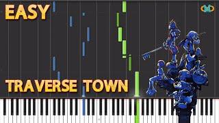 Kingdom Hearts - Traverse Town - [Piano Tutorial] (Easy) (Synt…
