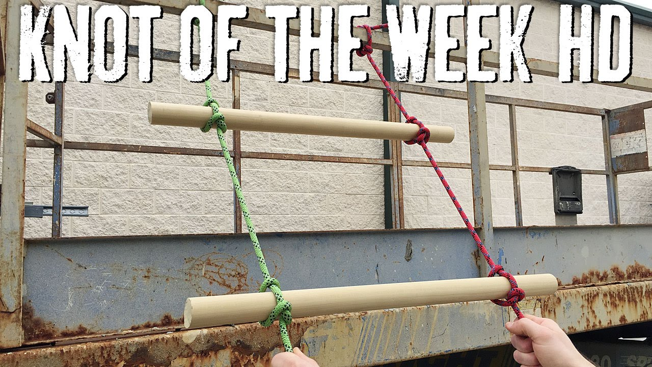 Create a Field Expedient Rope Ladder with the Ladder Lashing - ITS ... for Rope Ladder Knot  584dqh