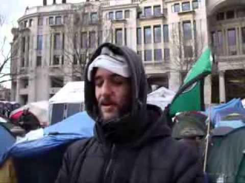 Occupy London Interview in front of St. Paul's Cathedral in speed of light
