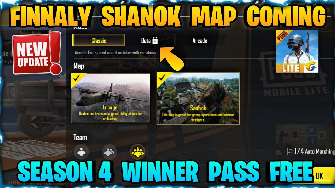 Pubg Mobile Lite Sanhok Map In Beta || New Upcoming Update || Season 4 Rewards