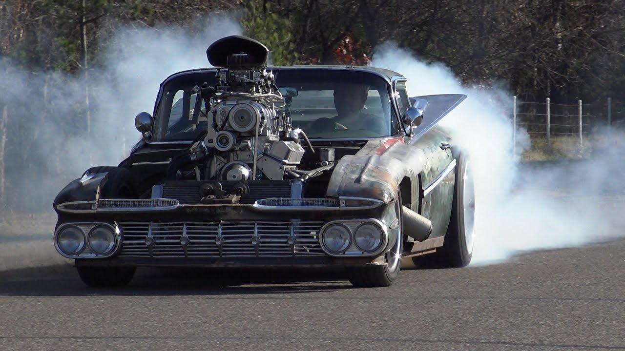 Driving the 800 HP Blown Hulk Camino Rat Rod (1959 El ...