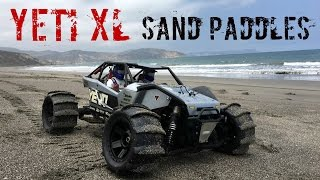 Axial Yeti XL with Pro-Line Sling Shot Sand Paddles on the Beach!