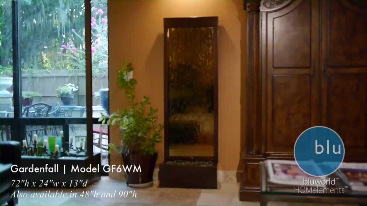 gardenfall gfwm by bluworld indoor mirror water fountain feature  - gardenfall gfwm by bluworld indoor mirror water fountain feature  youtube
