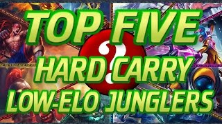 Top 5 BEST Jungler Champions to Carry Solo Queue in Low ELO/Ranks - League of Legends