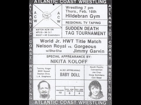 Atlantic Coast Wrestling TV 1989