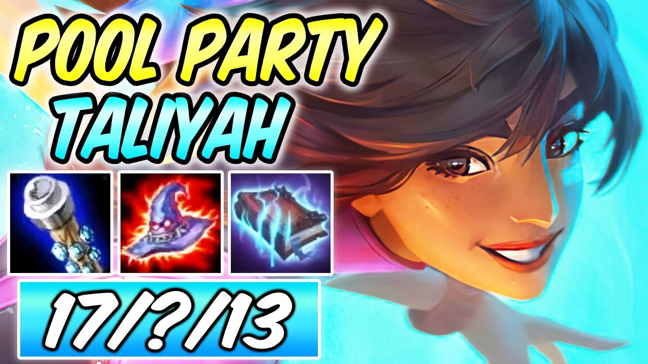 1v9 CLEAN POOL PARTY TALIYAH JUNGLE CARRY Full Burst AP Magic Penetration | Build & Runes | 86% K.P