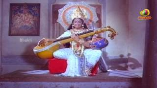 Sri Mantralaya Raghavendra Swamy Mahatyam Scenes - Goddess feeding the young priest