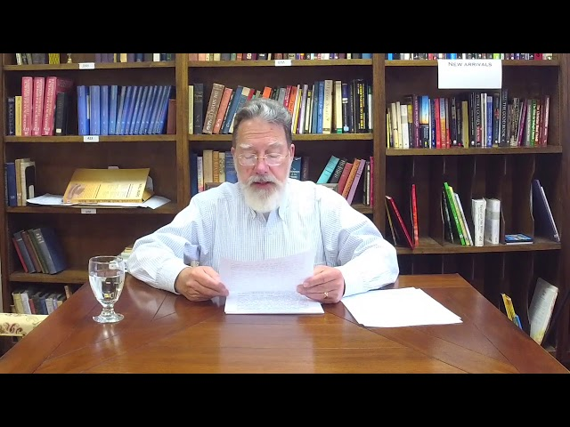 Bible Study with Bill Stahl - Week 20