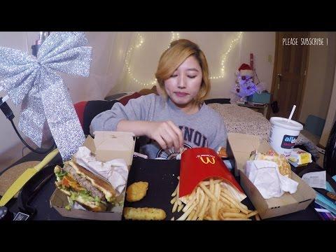 McDonald's Rio Crisp and Chitown Classic Burger | MUKBANG