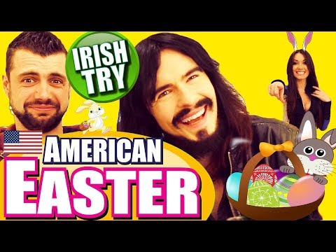 Irish People Taste Test AMERICAN EASTER - Snacks / Candy / Eggs!!