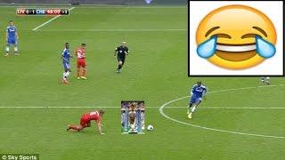 1-0 chelsea Gerrard slips