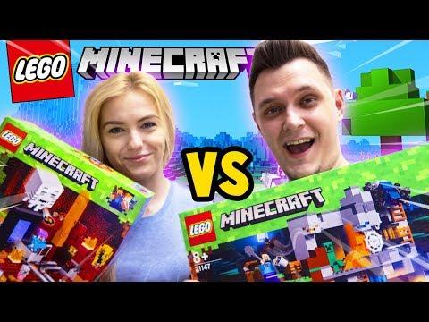 BITWA NA KLOCKI - BAZA VS TSUNAMI CREEPERÓW CHALLENGE! (Lego Minecraft) | Vito vs Bella thumbnail