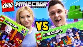 BITWA NA KLOCKI - BAZA VS TSUNAMI CREEPERÓW CHALLENGE! (Lego Minecraft) | Vito vs Bella
