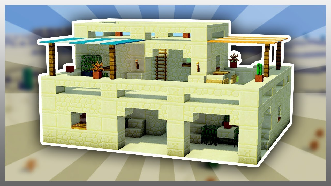 ✔️ EASY Sandstone Mansion Tutorial (Survival Friendly)