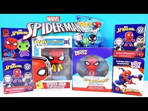 ЧЕЛОВЕК-ПАУК Mix! СЮРПРИЗЫ, игрушки, МУЛЬТИК, Marvel SPIDER MAN FUNKO, Kinder Surprise eggs unboxing