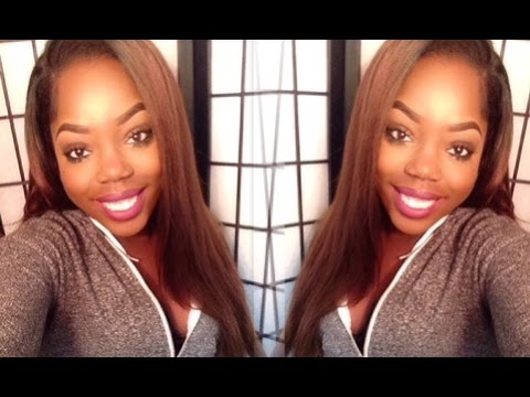 Indian Yaki Straight Eva Wigs Review Chocolate Brown