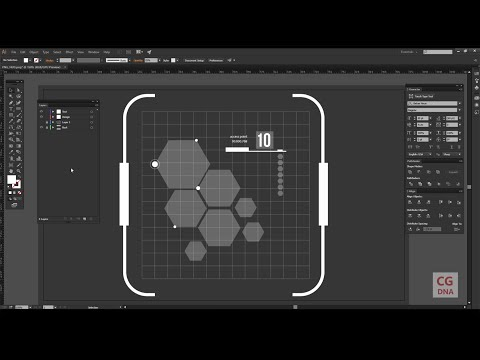 Adobe illustrator hud element designing tutorial