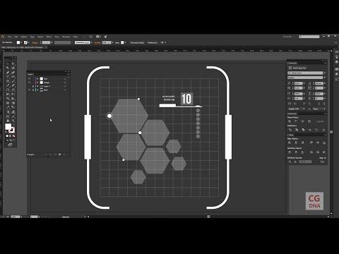 Adobe illustrator hud element designing tutorial