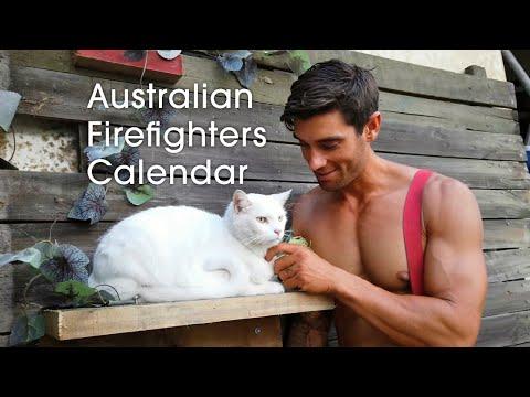 Behind The Scene Of Australian Firefighter 2020 Calendar Shooting Footage