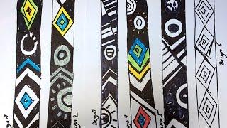 Creating Ethiopian pattern for mosaic art work